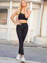 Summer Sports Yoga Leopard Bra and High Waist Legging Set
