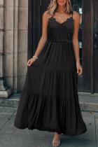 Summer Formal Lace Oberer Riemen Langes, schlichtes Kleid