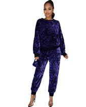 Camicia a maniche lunghe con paillettes da festa e pantaloni coordinati