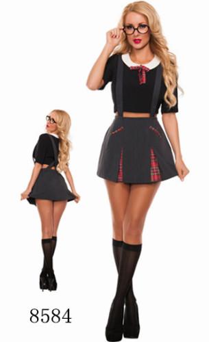 大人の女性のコスプレ学生のセクシーな衣装
