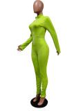 Spring Sexy Jumpsuit mit Reißverschluss und Bodycon