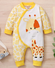 Baby Boy Spring Print Buttoned Rompers