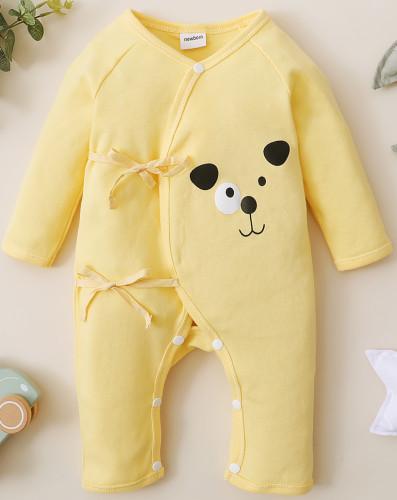 Macacão de cordas com estampa baby Boy Spring