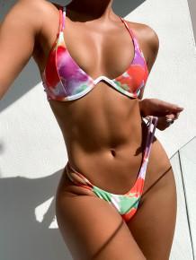 Two Piece Tie Dye Sexy Swimwear