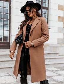 Manteau long élégant de couleur unie de printemps