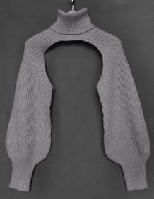 Street Style Turtleneck Sweater Cape