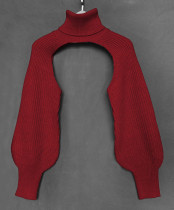 Capa estilo suéter de cuello alto estilo callejero