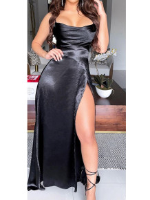High Cut Sexy Occassional Strap Evening Dress