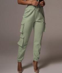 Casual Solid Color Drawstrings Pockets Sweatpants
