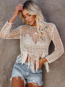 Summer Beach Crochet Nappels Cover Up Tops
