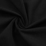 Top corto anudado de manga larga con corte negro de fiesta