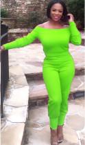 Zweiteiliges schulterfreies passendes Crop Top und Hosen-Set