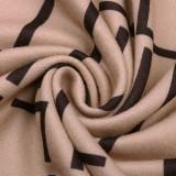 Vestido midi de manga larga con abrigo elegante de otoño