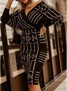 Sonbahar Zarif Şal Uzun Kollu Midi Elbise