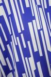 Mono holgado formal de rayas blancas y azules de talla grande