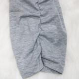 Conjunto sexy de manga larga con top corto y pantalón fruncido
