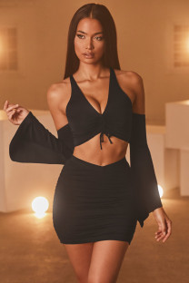 Party Sexy Two Piece Crop Top and Mini Skirt Set