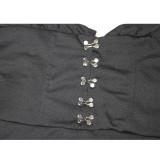 Conjunto de minifalda y top bustier con capucha y manga larga sexy