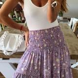 Falda maxi de cintura alta con estampado bohemio de verano