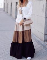 Casual lange mouw lange maxi-jurk met lange mouwen