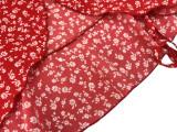 Vestido acampanado envuelto floral de manga corta de verano
