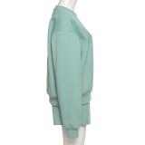 Pantalón corto casual de manga larga con estampado de chándal