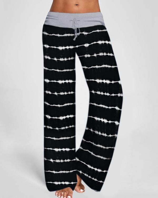 Pantalones de salón con cinturilla ancha a rayas in-Home