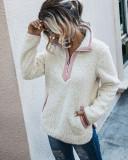 Winter Turtleneck Zipped Fleece Top