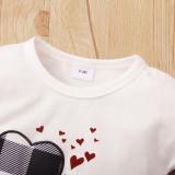 Conjunto de falda a cuadros y camisa blanca de verano para bebé niña