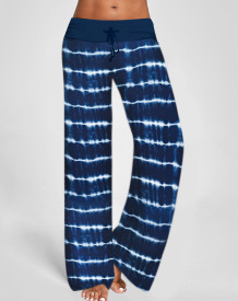 In-Home Stripes Wide Waistband Lounge Hose
