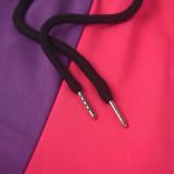 Conjunto de pantalón de chándal y top corto con tirantes anchos en contraste de dos piezas a juego