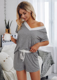Summer Matching Two Piece Shorts Pajama Set