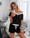 Summer Matching Two Piece Shorts Pajama Set