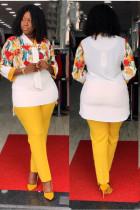 Формальная блузка и брюки для мам из двух частей