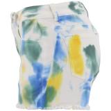 Summer Paints White Tassels Denim Shorts