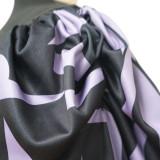 Plus Size Schwarz Basic Top mit Print Puff Sleeves
