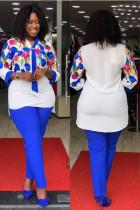 Mutter zweiteilige reife formale Bluse und Hosen Set