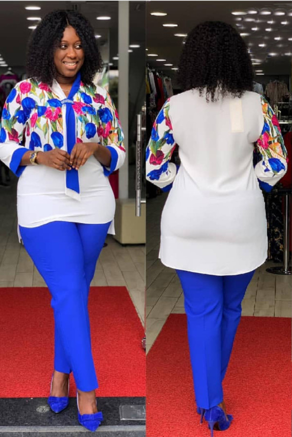 Mother Two Piece Mature Formal Blouse and Pants Set