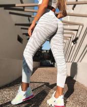 Summer Print Sports Yoga High Waist Leggings