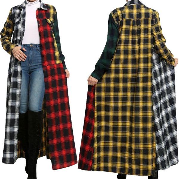 Lässige lange Bluse mit schlichtem Print und vollen Ärmeln