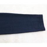 Conjunto de pantalón y top bodycon de dos piezas en color liso