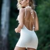 Summer Beach Strickgurt Minikleid