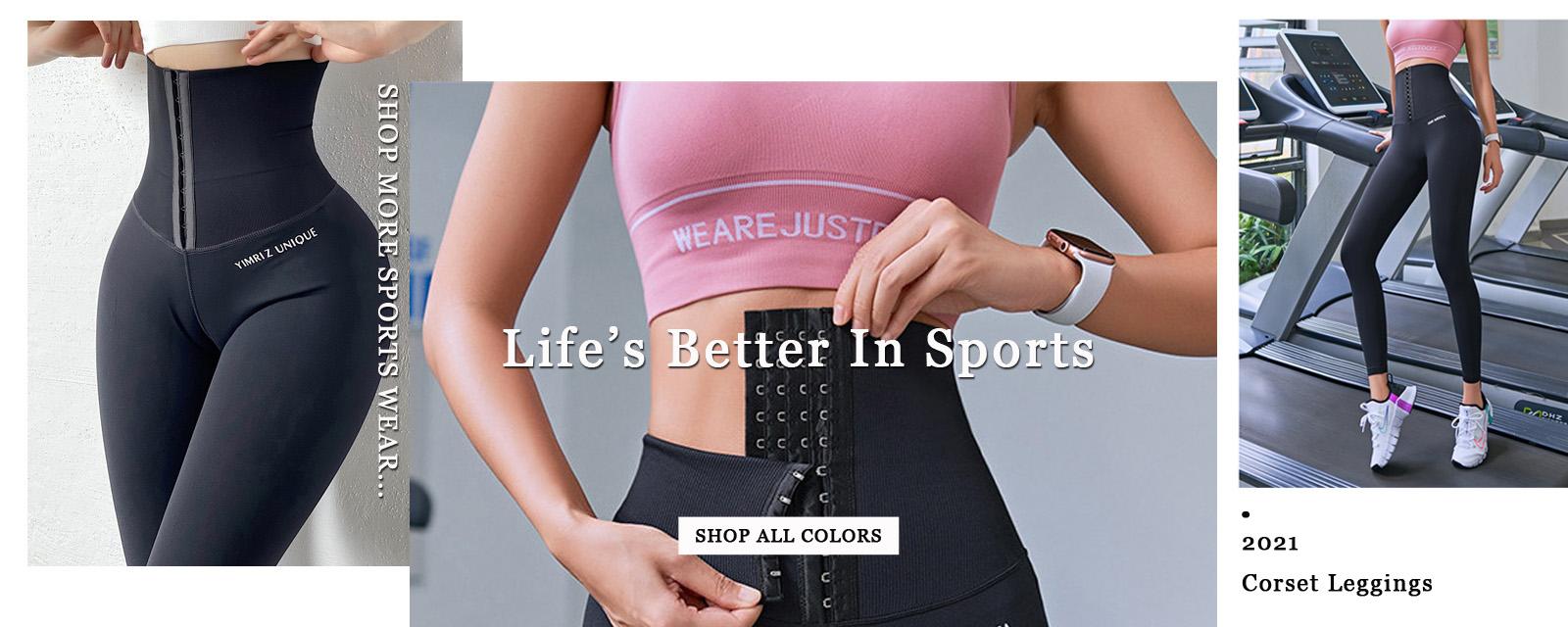 Spor Spor Yüksek Bel Korse Yoga Tayt