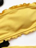 Zweiteilige einfarbige Rüschen Bandeau Badebekleidung