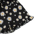 Mamelucos de volantes con correa floral de verano para niña