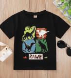 Baby Boy Summer Print Schwarzes 0-Neck Shirt