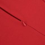 Vestido midi peplum de oficina con cuello en V de color sólido de primavera con mangas 3/4