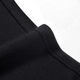 Sommer einfarbig Rollkragenpullover Schlüsselloch Retro Office Midi Kleid