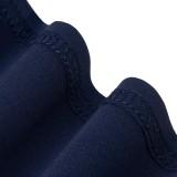 Spring Solid Color V-Ausschnitt Office Peplum Midi-Kleid mit 3/4 Ärmeln