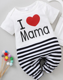 Baby Boy Stripes Print Summer Rompers